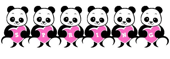 Spring love-panda logo