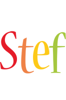 Stef birthday logo