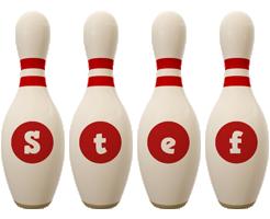 Stef bowling-pin logo