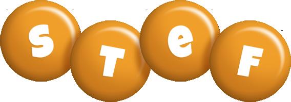 Stef candy-orange logo