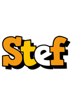 Stef cartoon logo