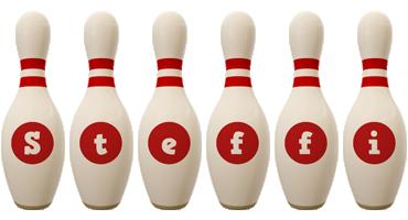 Steffi bowling-pin logo
