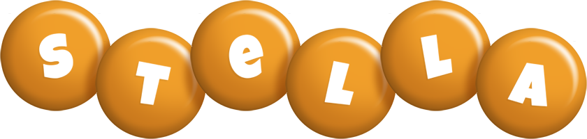 Stella candy-orange logo