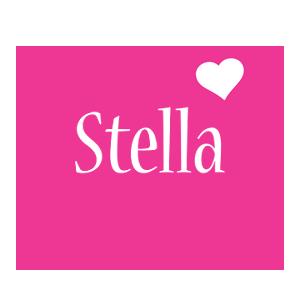 Stella love-heart logo