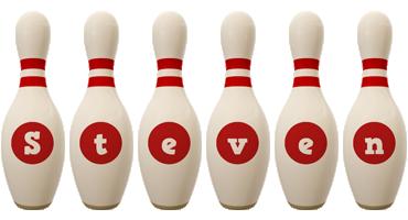 Steven bowling-pin logo