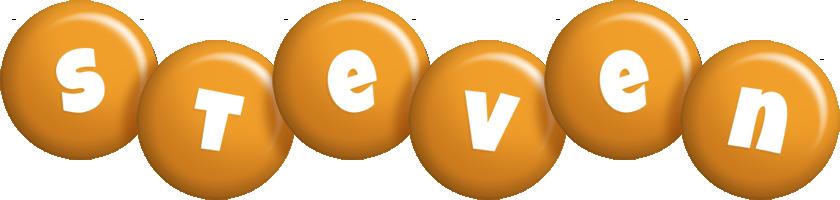 Steven candy-orange logo