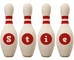 Stie bowling-pin logo