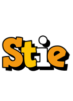Stie cartoon logo