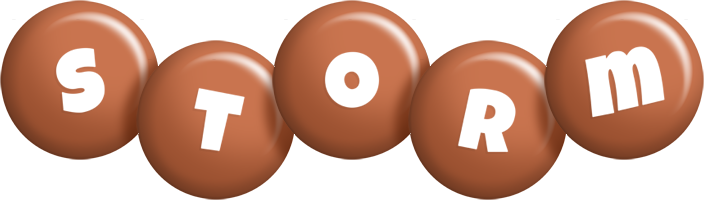 Storm candy-brown logo