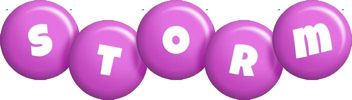 Storm candy-purple logo
