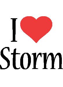 Storm i-love logo