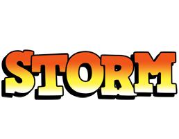 Storm sunset logo