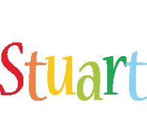 Stuart birthday logo