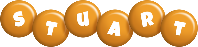 Stuart candy-orange logo
