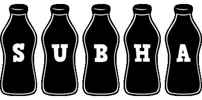Subha bottle logo