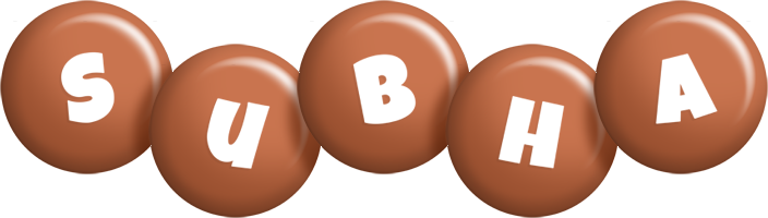 Subha candy-brown logo