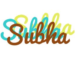 Subha cupcake logo