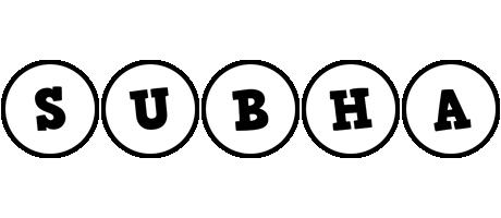 Subha handy logo