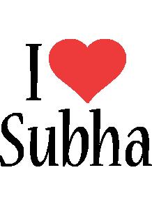 Subha i-love logo