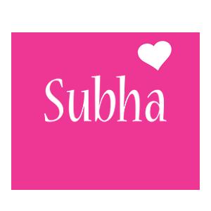 Subha love-heart logo