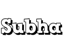 Subha snowing logo