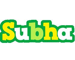 Subha soccer logo