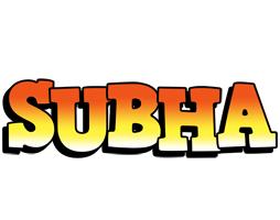 Subha sunset logo