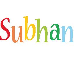 Subhan birthday logo
