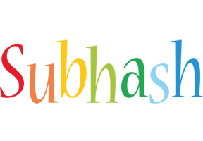 Subhash birthday logo