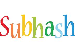 Subhash birthday logo
