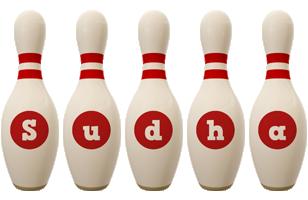 Sudha bowling-pin logo