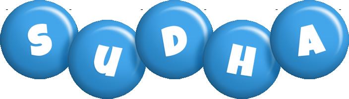 Sudha candy-blue logo