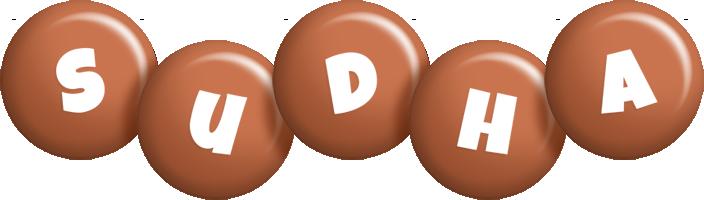 Sudha candy-brown logo