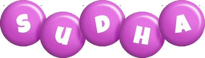 Sudha candy-purple logo