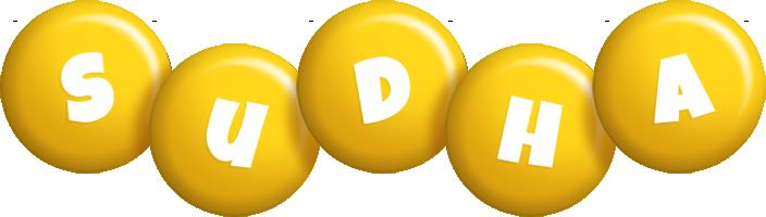 Sudha candy-yellow logo