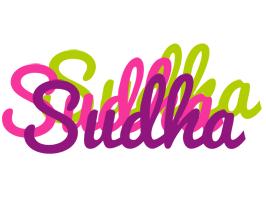 Sudha flowers logo