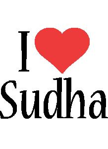 Sudha i-love logo