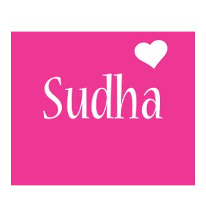 Sudha love-heart logo