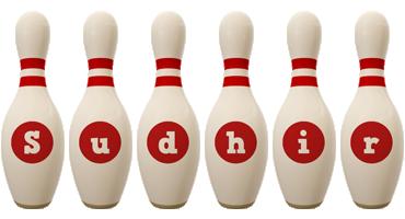 Sudhir bowling-pin logo