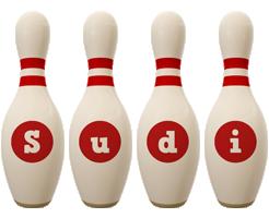 Sudi bowling-pin logo
