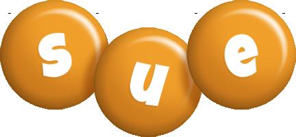 Sue candy-orange logo
