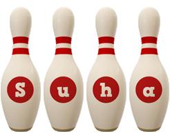 Suha bowling-pin logo