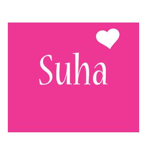 Suha love-heart logo