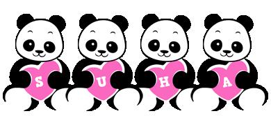 Suha love-panda logo