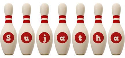 Sujatha bowling-pin logo