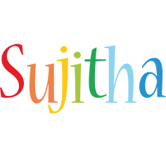 Sujitha birthday logo