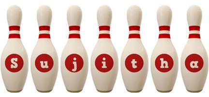 Sujitha bowling-pin logo