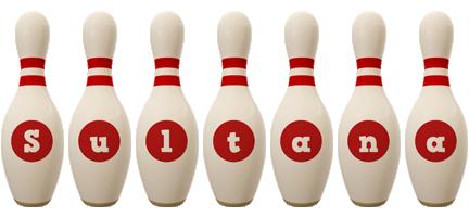 Sultana bowling-pin logo