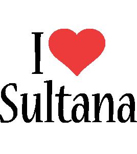 Sultana i-love logo