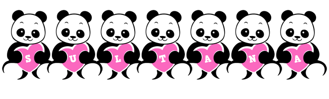 Sultana love-panda logo